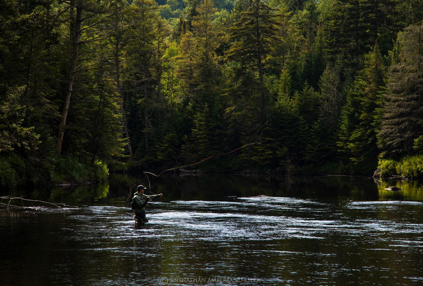 fly fishing,fly fisherman,flyfishing,fisherman,fishing,Ausable River,Wilmington Notch,