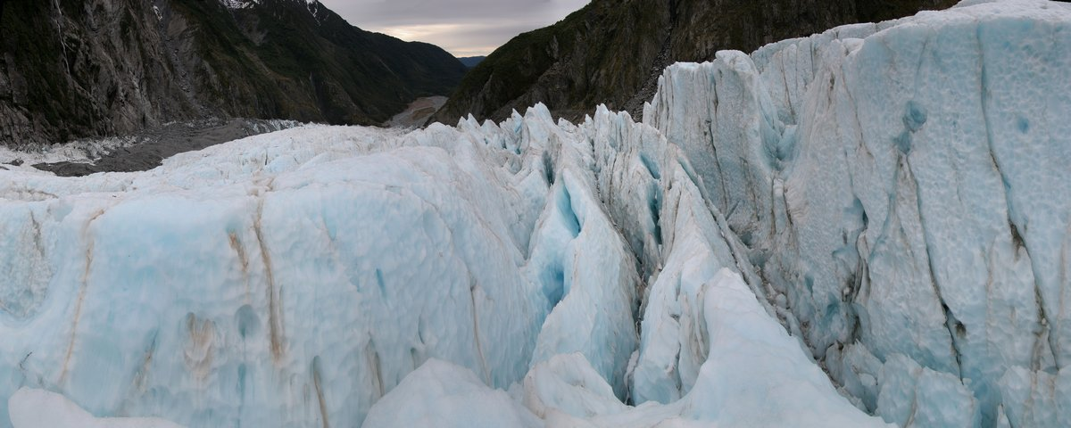 Franz Josef Glacier, crevasse, crevasses, serac, ice, blue, West Coast, glacier, glacial, New Zealand, photo