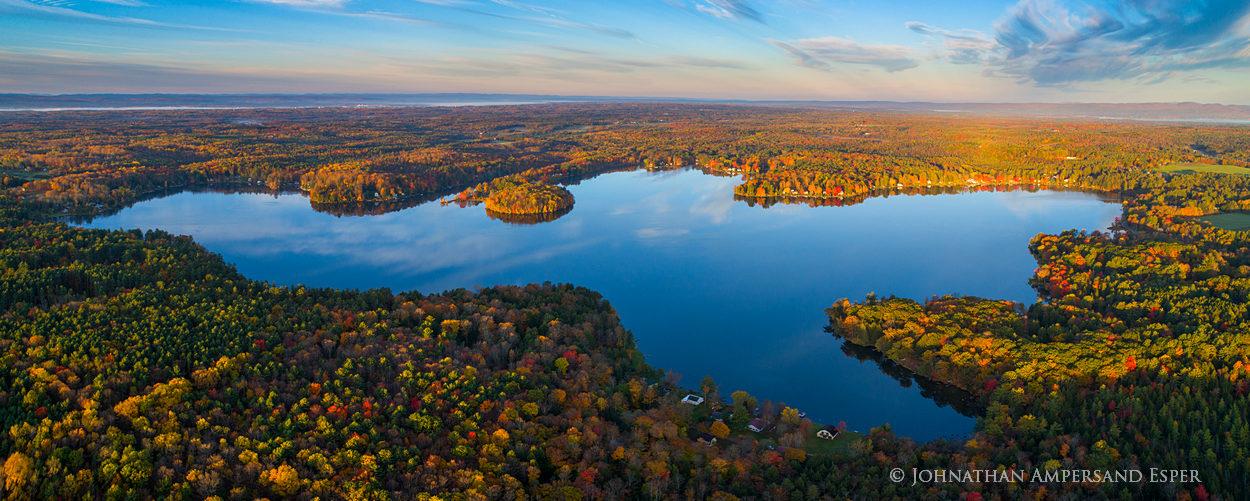 Galway Lake,Lake Galway,Galway,southern Adirondacks,Broadalbin,fall,2017,lake,drone,aerial,panorama, photo