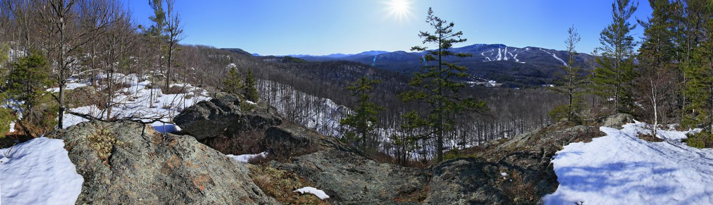 Gore Mt. Ski Area from across the valley in early spring, Adirondack Park