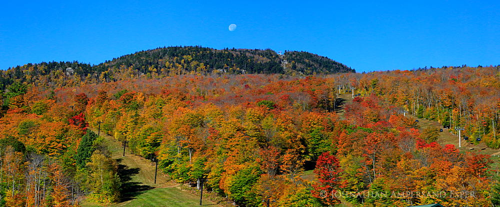 Gore Mountain,Gore Mt,Gore Mt ski area,ski area,daytime moon,moon,Gore Mt moon,autumn,fall festival,2014,foliage,, photo