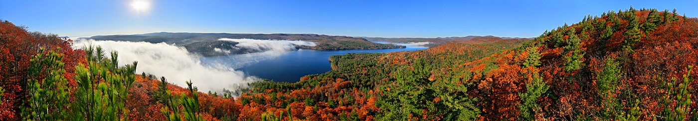 October,fall,autumn,Great Sacandaga Lake,panorama,Clute Mt,Town of Day,360, photo