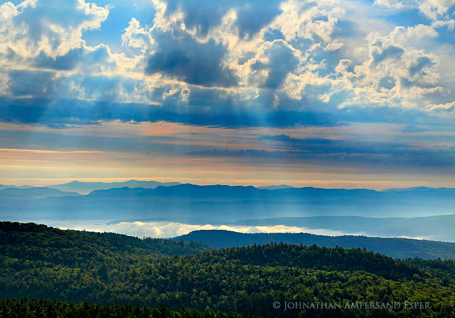 Green Mountains,vermont,sunrays,Adirondack Mountains,Adirondack Park,Lake George,Lake George Wild Forest,Sleeping Beauty,Sleeping Beauty Mt,, photo
