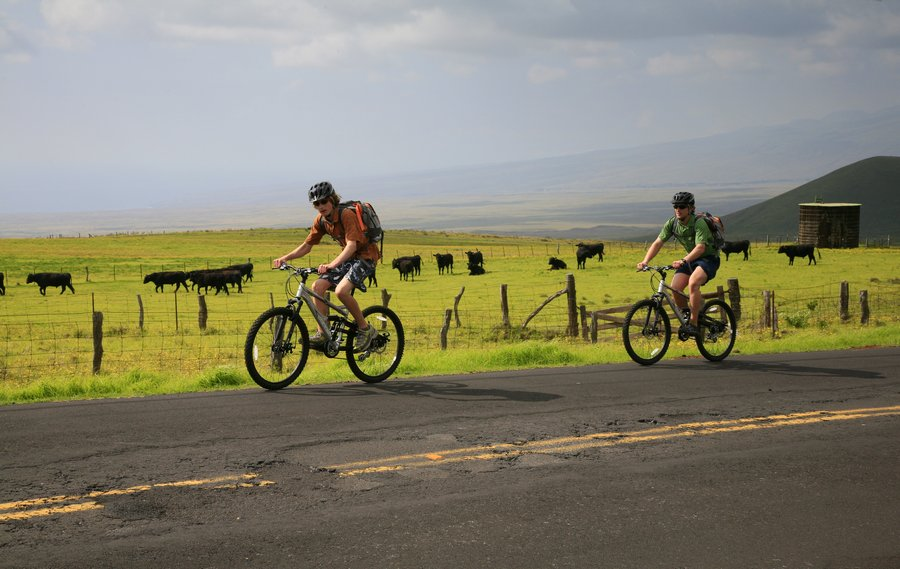 biking, sea to summit, Mauna Kea, Hawaii, riding, up, Saddle Road, highpoint, adventure, photo