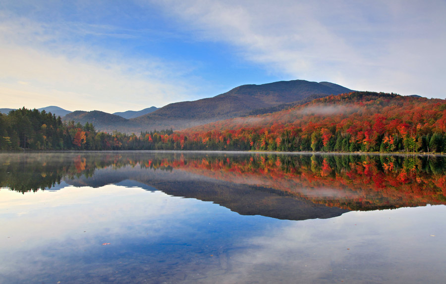 Heart Lake,blue,banding,reflection,clouds,Algonquin, photo