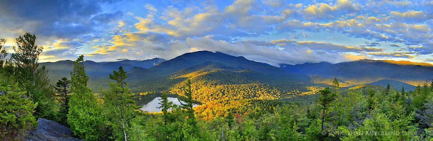 Heart Lake yellow light sunrise, Heart Lake, Mt Jo, Mt. Jo, Heart Lake Mt Jo, trail, Mt Jo trail,High Peaks,Adirondacks,Adirondack...