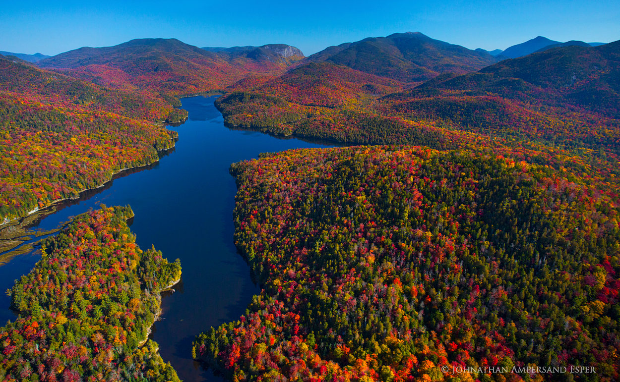 Henderson Lake,High Peaks,Adirondack,lake,aerial,fall aerial,Wallface,Algonquin, photo