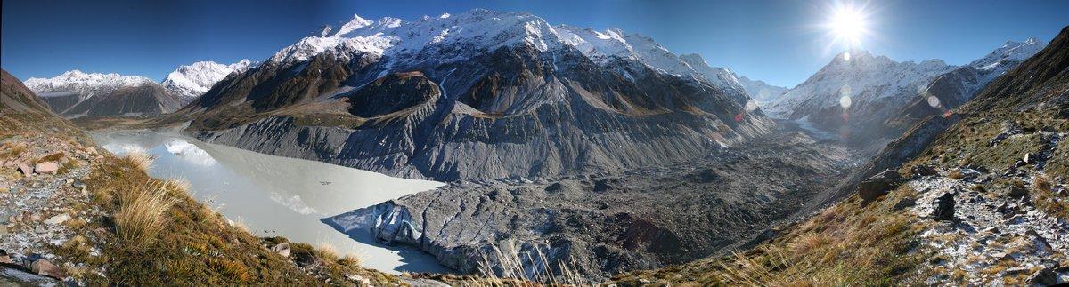 Hooker Glacier, Hooker Valley, Mt. Cook, National Park, Aoraki, New Zealand, Southern Alps, photo