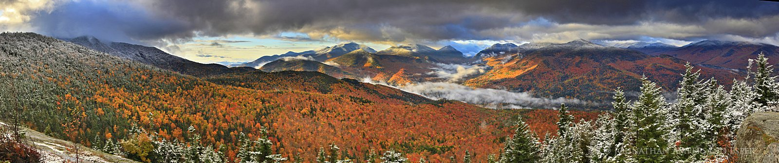 Hopkins Mt,first,autumn,snowfall,autumn snowfall,High Peaks,Hopkins Mountain,Keene Valley,Adirondack Mountains,Giant Mt,, photo