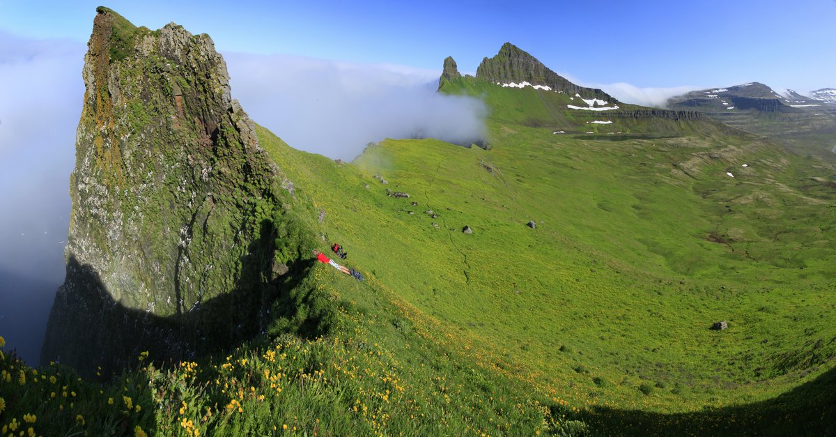 Hornstrandir Peninsula,Iceland,Hornbjarg,cliffs,sea,ocean,sheer,backpacking,destination,trip,seabirds,, photo