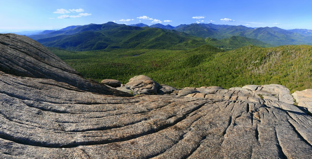 Adirondack, High Peaks, Mount Marcy, Cascade Peak, Hurricane Mt, Hurricane Mountain, granite, bedrock, glaciated, glacia, photo