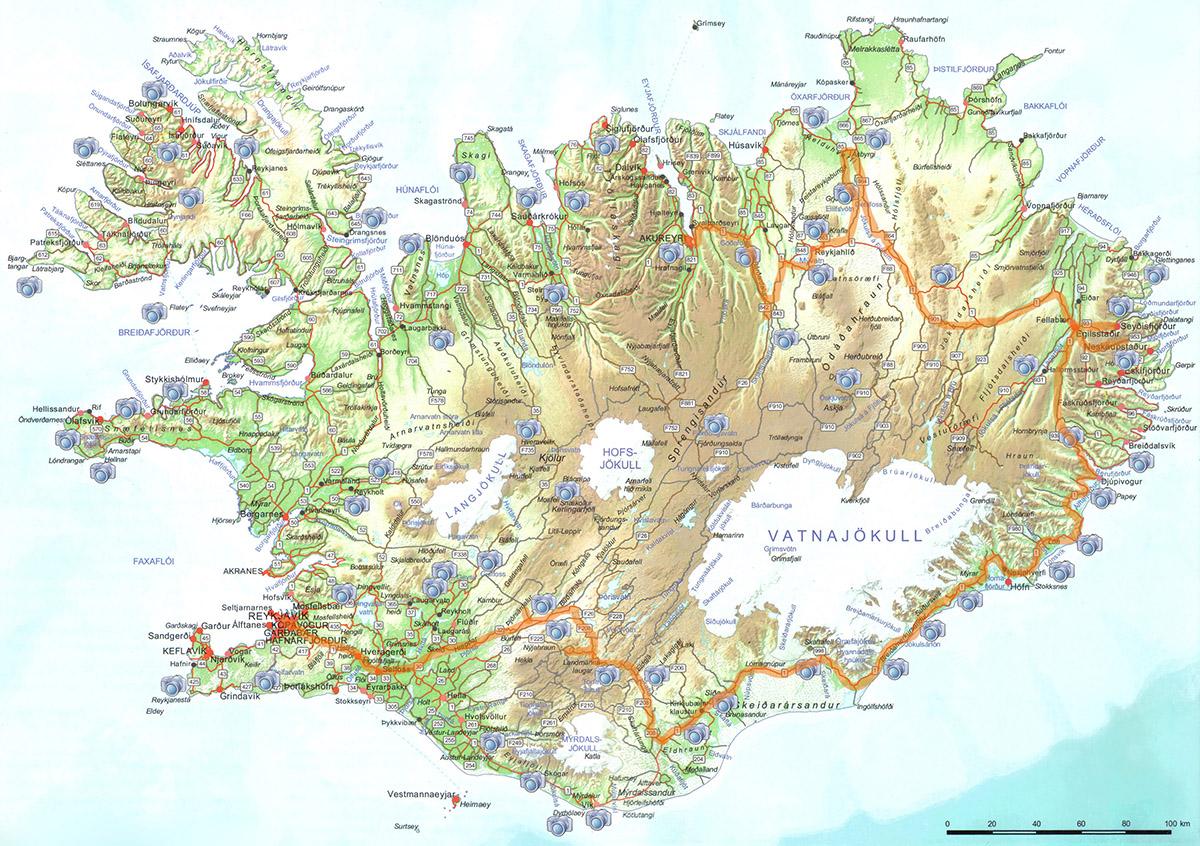 Iceland Map,map of Iceland,Iceland itinerary,autumn 2020,