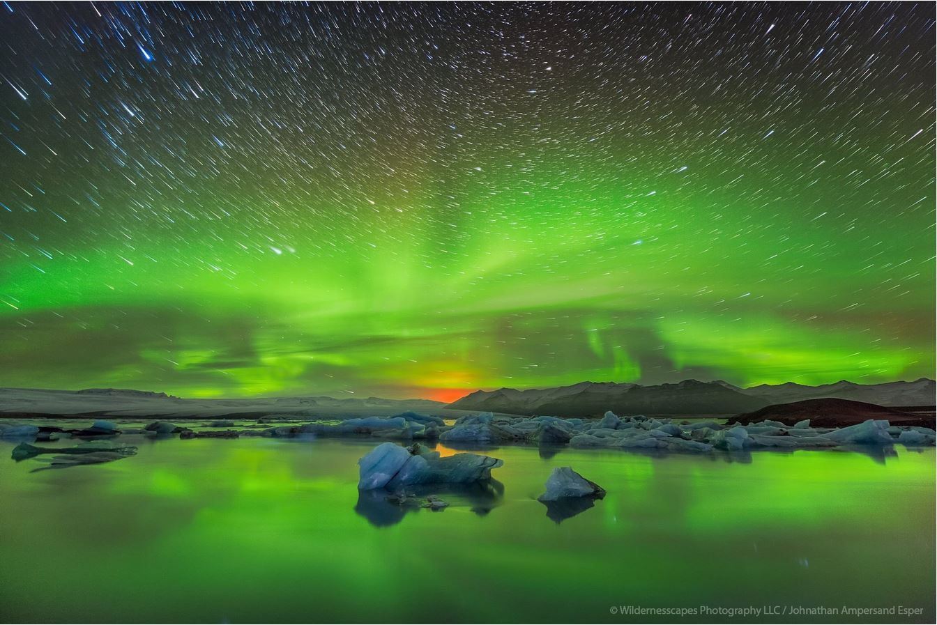 Northern Lights Over Jokulsarlon Wildernesscapes