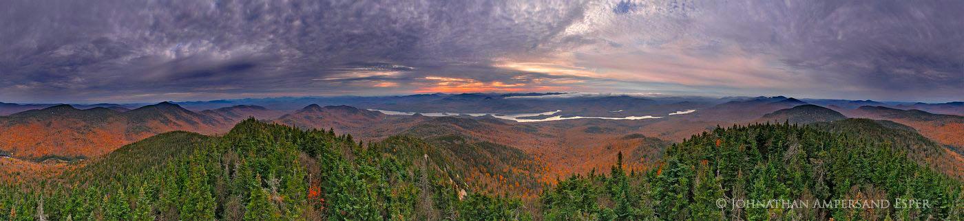360 degree,panorama,Indian Lake,Snowy Mountain,fall,2011,dramatic,clouds,, photo