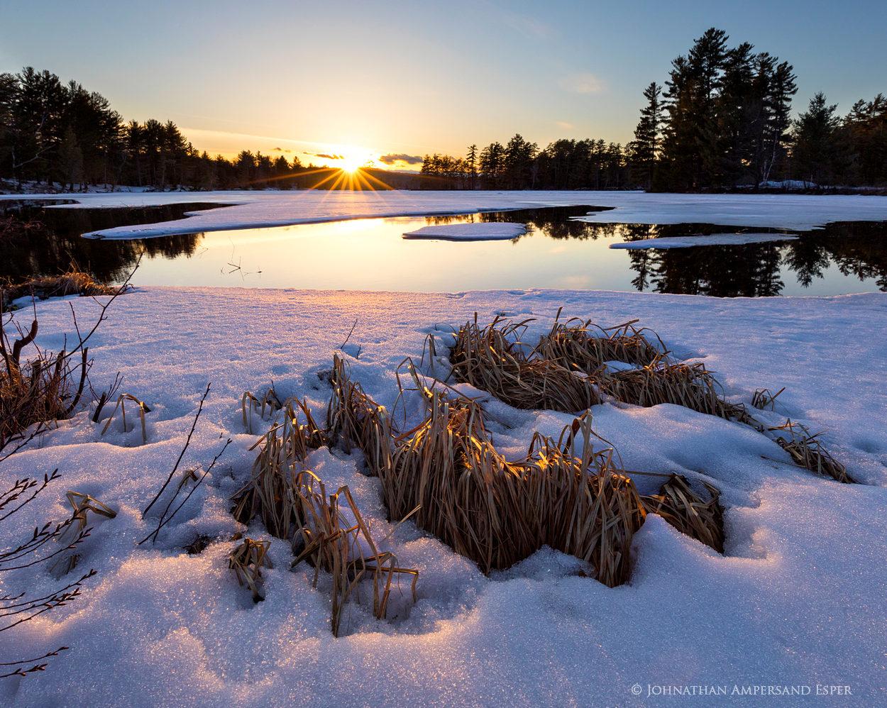 Jennings Park Pond,Long Lake,Park Pond,Jennings Pond,April,ice,spring,, photo