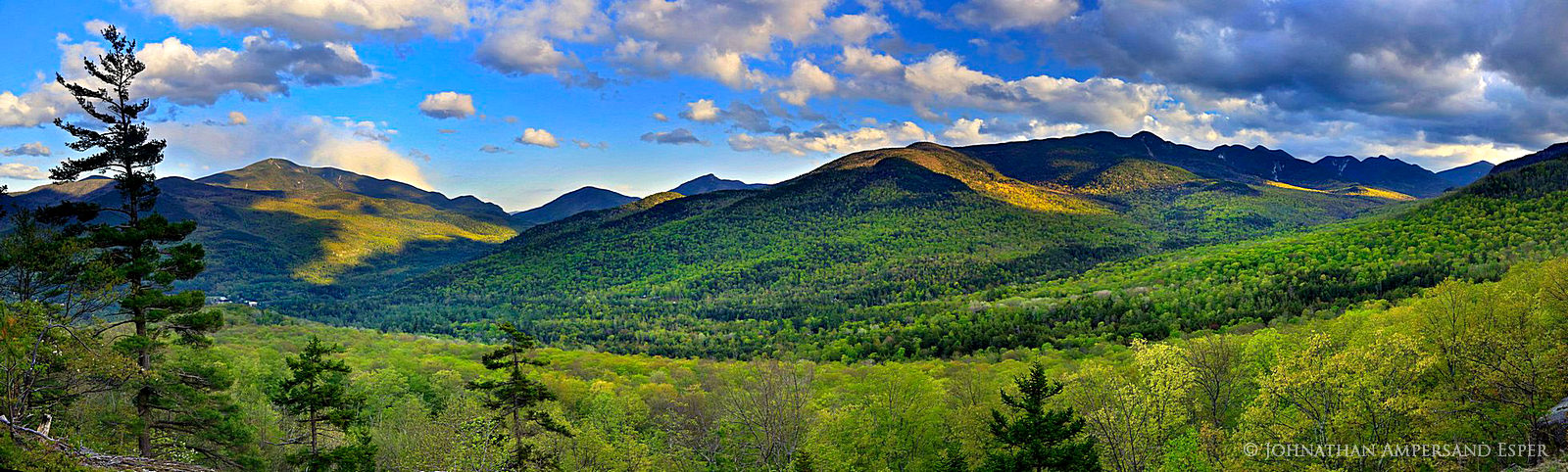 Johns Brook Valley, Big Slide Mt,Big Slide, Great Range,Adirondack High Peaks,High Peaks,range,Adirondack mountains,Adirondacks,mountains,spring,springtime,First Brother,ridgeline,Giant Mt,Lower Wolf , photo
