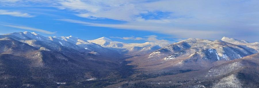 Johns Brook Valley,Baxter Mt, Baxter,Mt. Marcy,winter,treetop,High Peaks,Great Range,Adirondack Mountains,Keene Valley,, photo