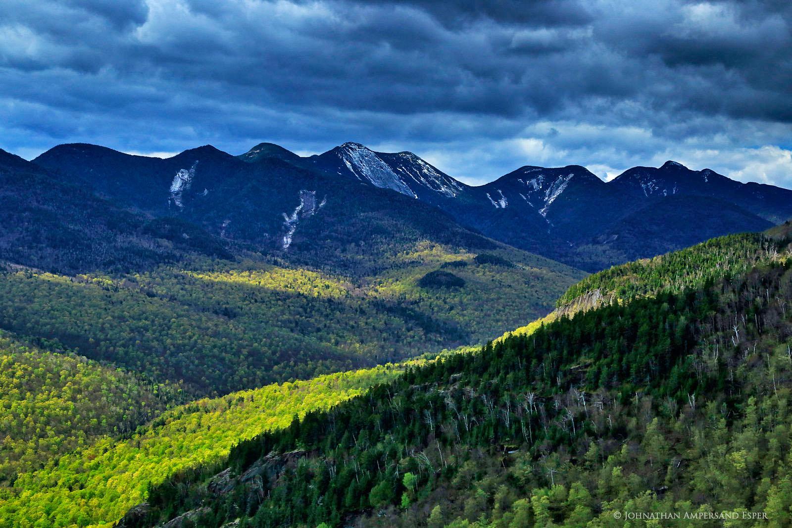 Johns Brook Valley,spring snow,spring,Big Slide Mt,Big Slide,Adirondack High Peaks,Great Range,Gothics,Gothics Mt,Saddleback Mt, photo