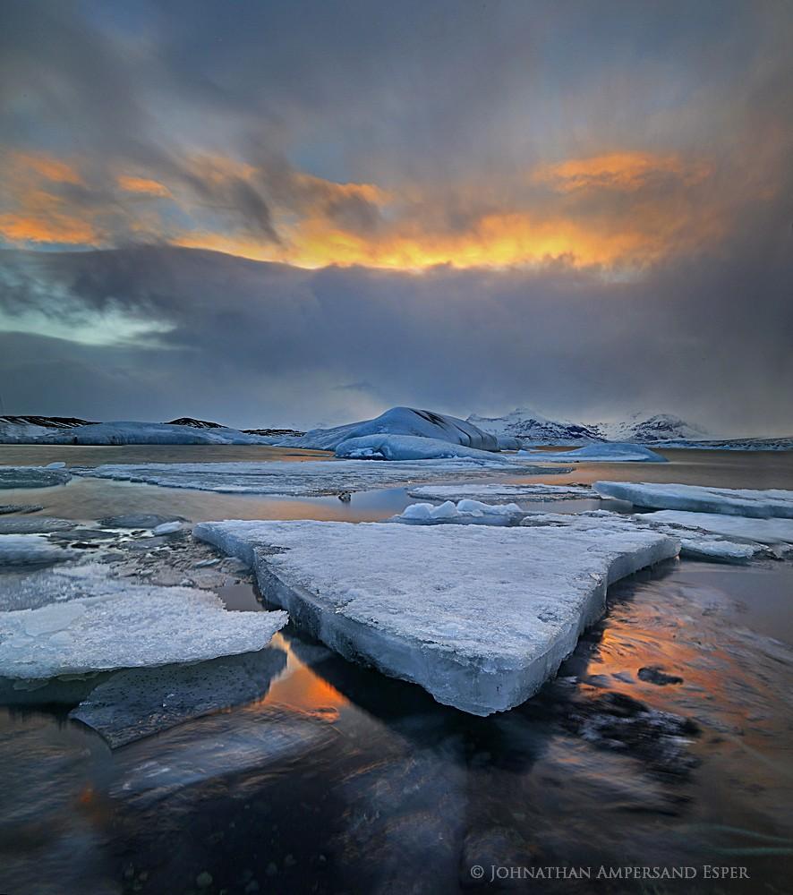 Jokulsarlon,sunset, glacier lagoon,Iceland,Jokulsarlon sunset,Jokulsarlon Iceland,iceberg,trifecta, photo