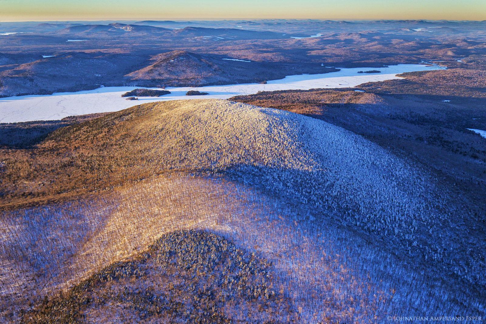 aerial,winter,High Peaks,2016,Adirondack Mountains,Adirondack High Peaks,Adirondacks,Kempshall Mt,Kempshall,Long Lake,, photo