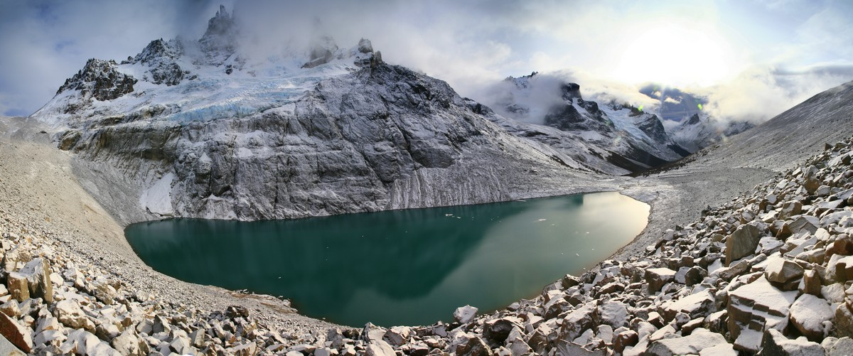 Laguna, Cerro Castillo, Reserva Natural, Patagonia, glacial, lake, green, mountain, castle, photo