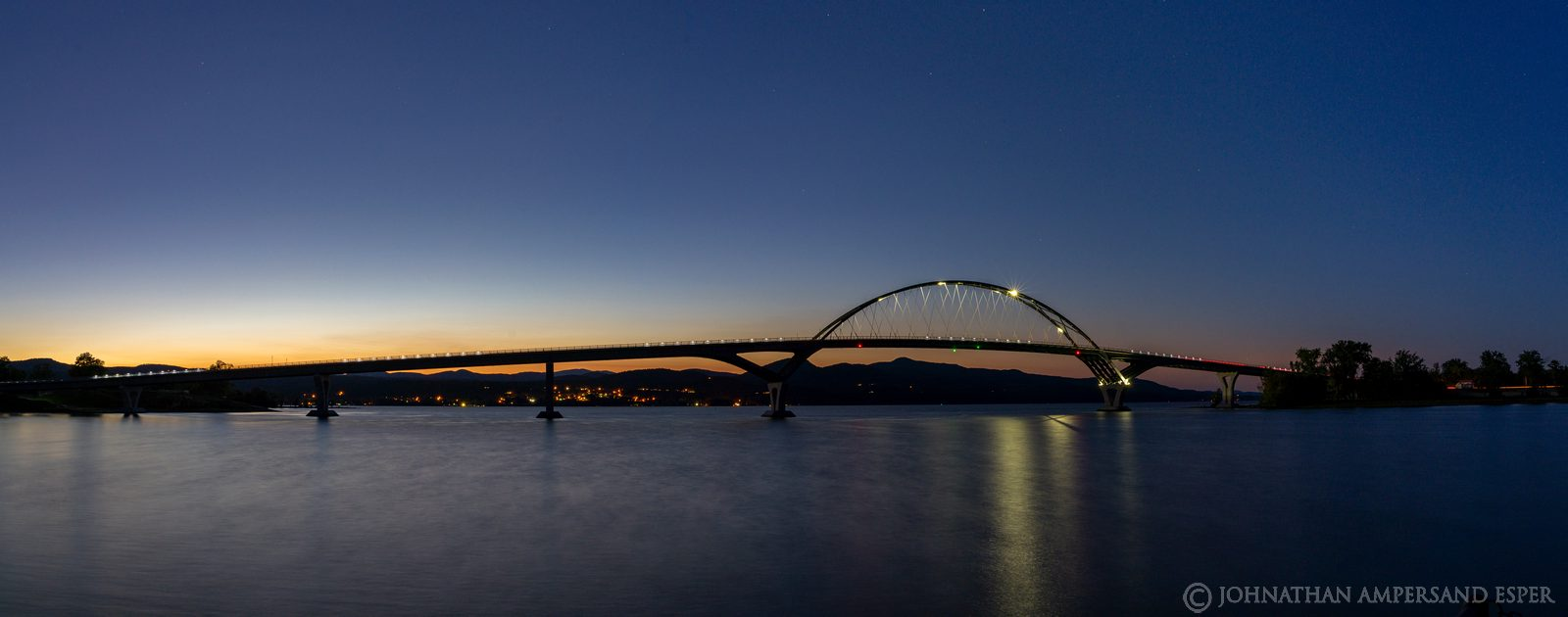 Crown Point Bridge,bridge,Lake Champlain,2020,twilight,