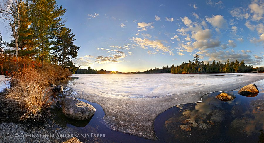 Lake Durant, campground,receding,ice,spring,march,2012,Johnathan Esper,springtime,sunset,, photo