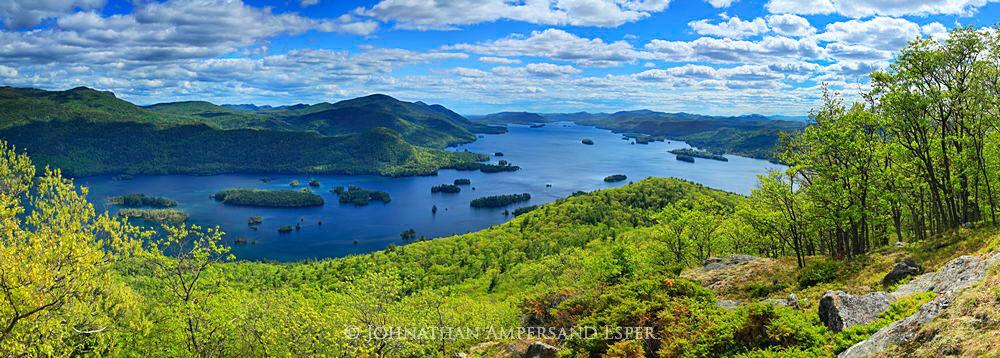Lake George,Tongue Range,Tongue Mt,Tongue Mountain,springtime,May,2015,Johnathan Esper,Adirondack Park,Adirondacks,First Mt,Adirondack lake,lake,sunny,the Narrows, , photo