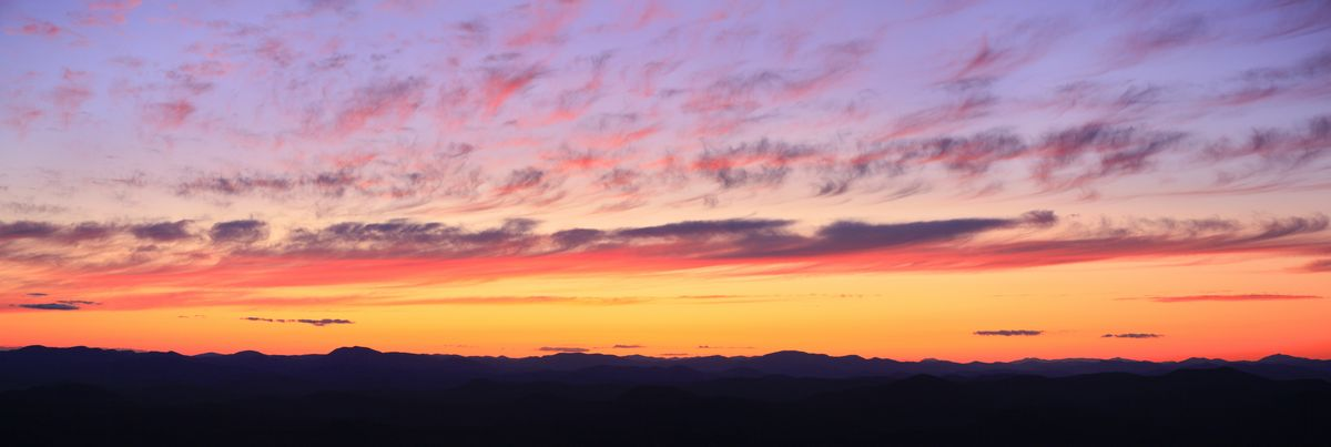 Adirondack,skyline,Adirondack Mountains,Adirondacks,sunset,Lake George,Buck Mt,view,Adirondack Park,west,sky,purple,red,, photo