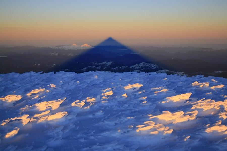shadow, volcanic, activity, air, hazy, sunrise, mountain, Lanin, volcano, Lanin National Park, Patagonia, photo