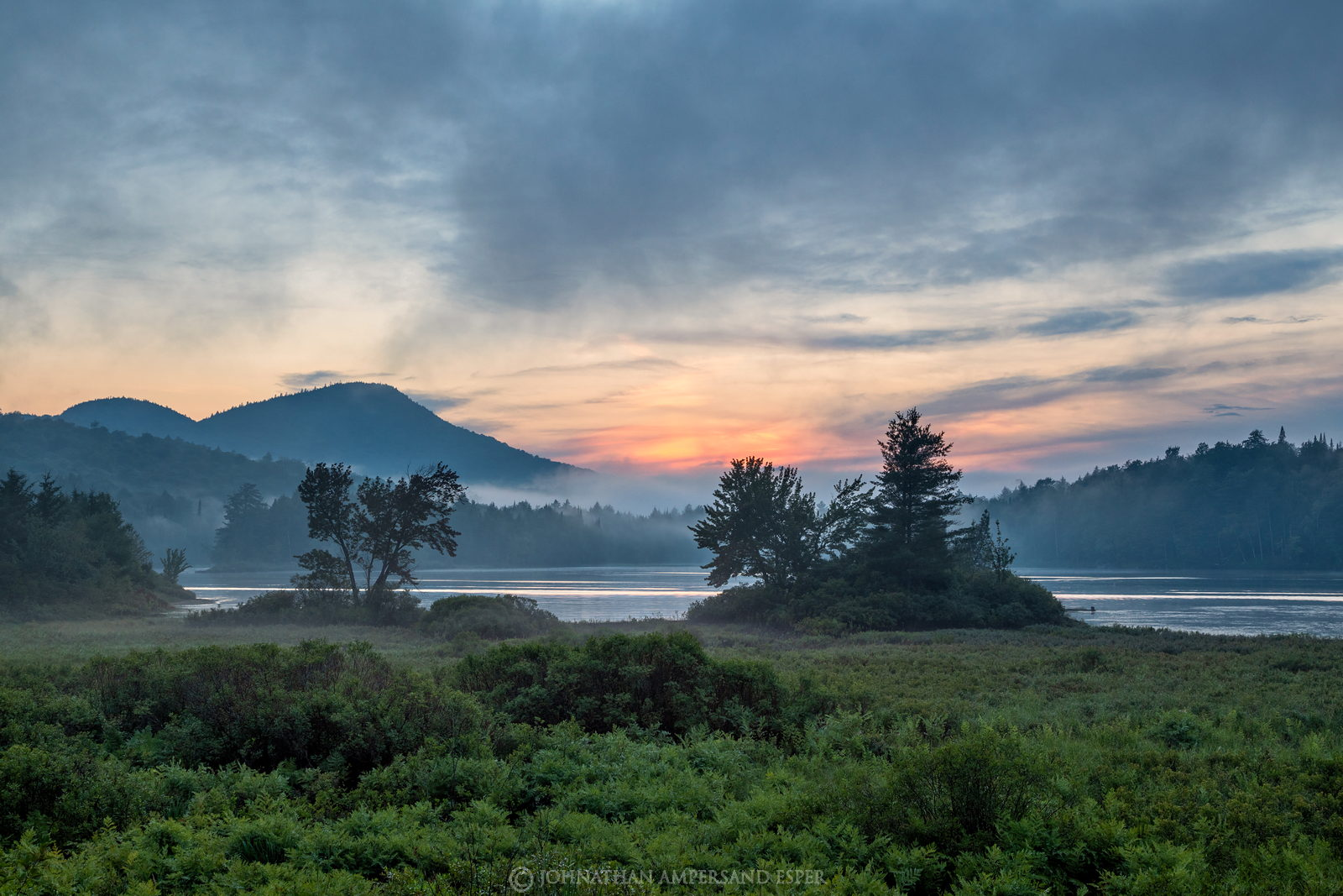 Long Lake,Owls Head Mt,Owl's Head Mt,summer,2017,rainstorm,mist,foggy,