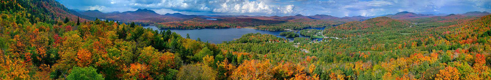 Long Lake,aerial,treetop,panorama,town,Lake Eaton,Owls Head Mt,Owl's Head Mt,, photo