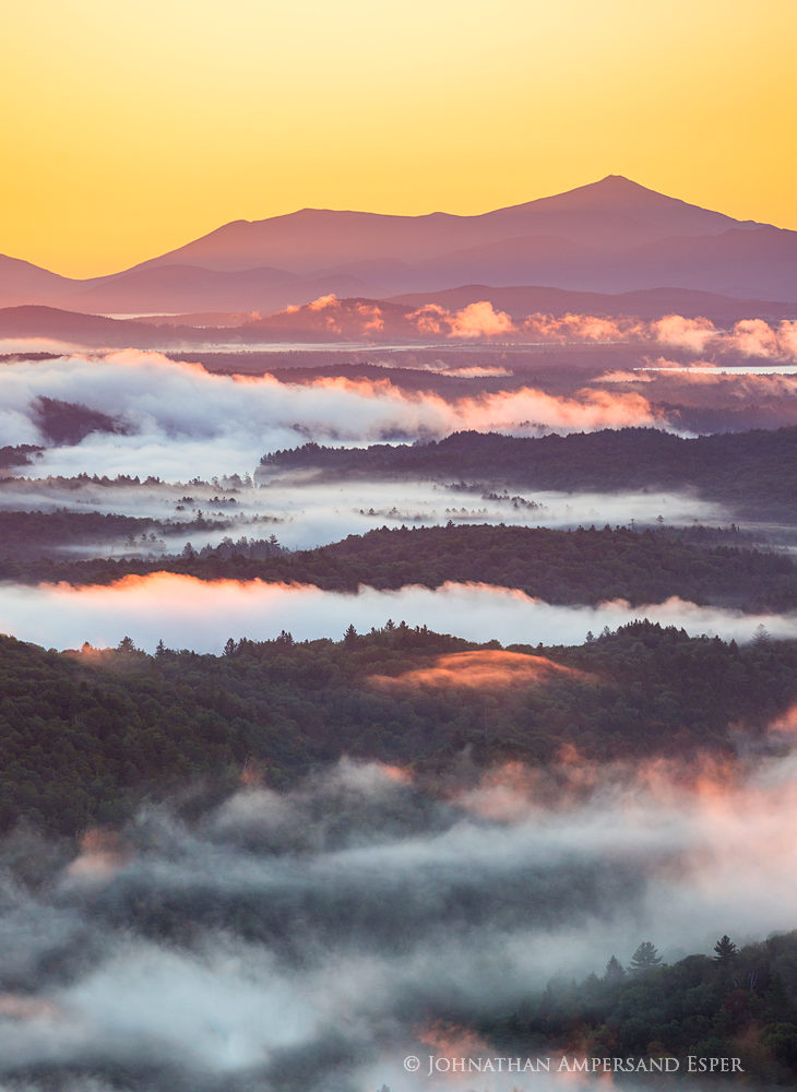 Whiteface Mt,Whiteface and Esther,Esther Mt,Whiteface,Long Pond Mountain,Long Pond Mt,fog,purple,valley fog,August,sunrise,St. Regis Wilderness,St Regis, photo
