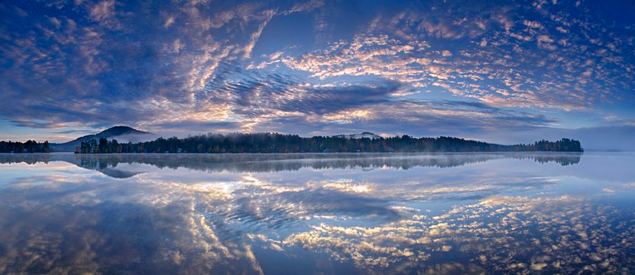 Loon Lake,reflection,panorama,Loon Lake Mt,clouds, photo