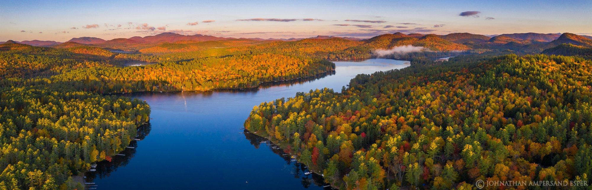 Loon Lake,drone,fall,2019,autumn,panorama,drone panorama,Gore Mt,