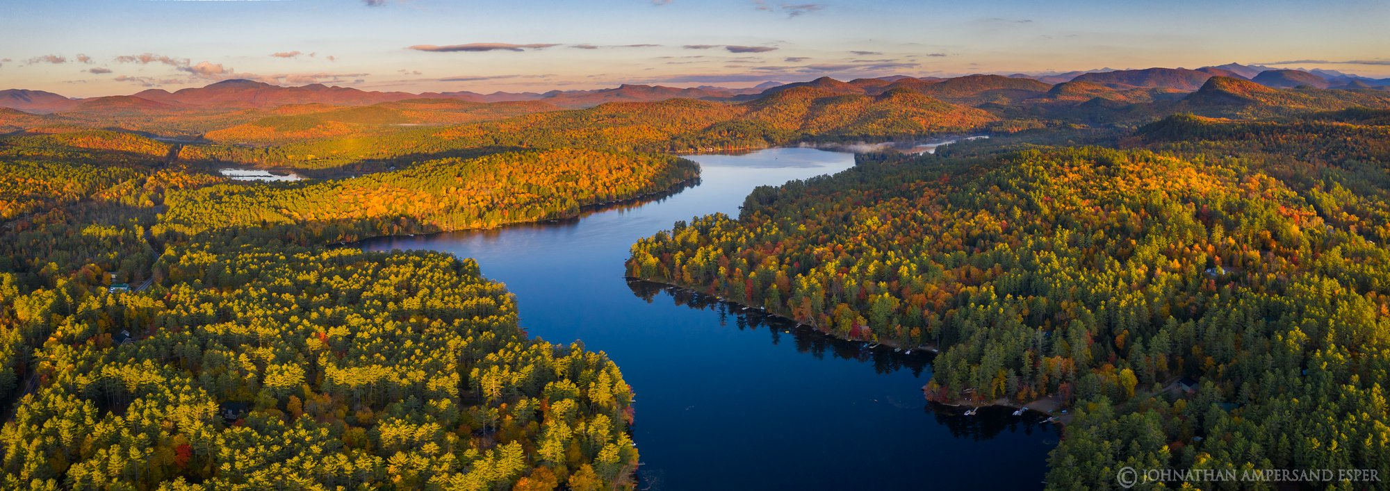 Loon Lake,drone,fall,2019,autumn,panorama,drone panorama,Gore Mt,High Peaks,, photo
