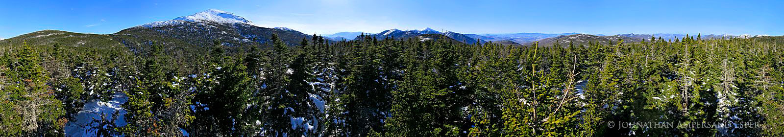 360 degree,panorama,Mt Marcy,trail,summit,Adirondack,High Peaks,winter,treetop, photo