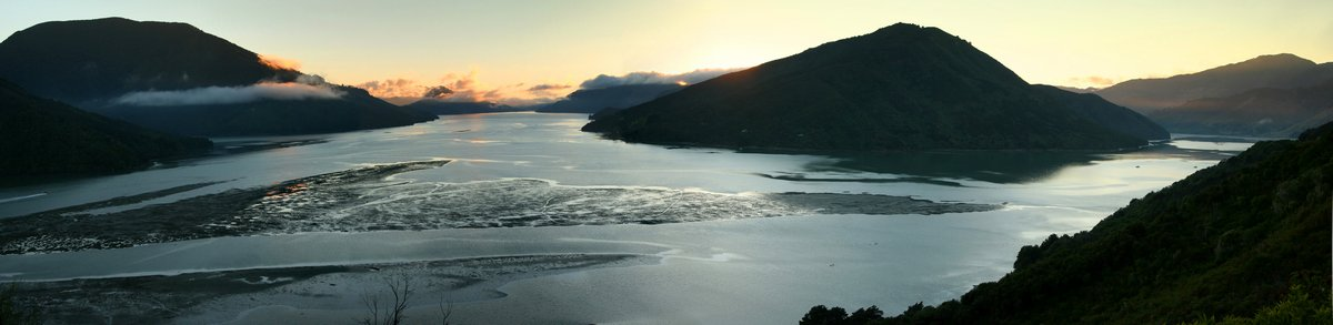 Marlborough Sounds, New Zealand, panorama, photo