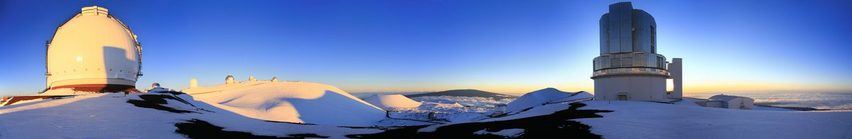 Mauna Kea, observatories, telescopes, summit, highpoint, hawaii, panorama, sunset, photo