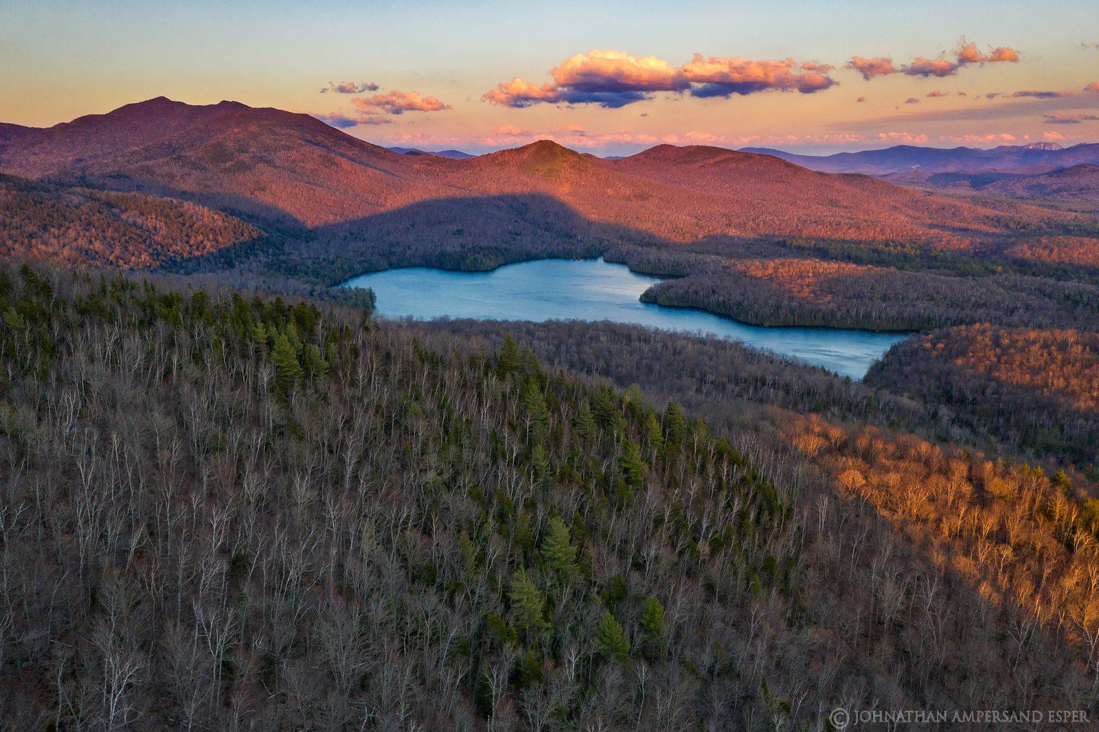 McKenzie Pond,McKenzie Mt,McKenzie Mountain,McKenzie Mountain Wilderness,drone,Mt Baker,alpenglow,lake,April,2020,spring,
