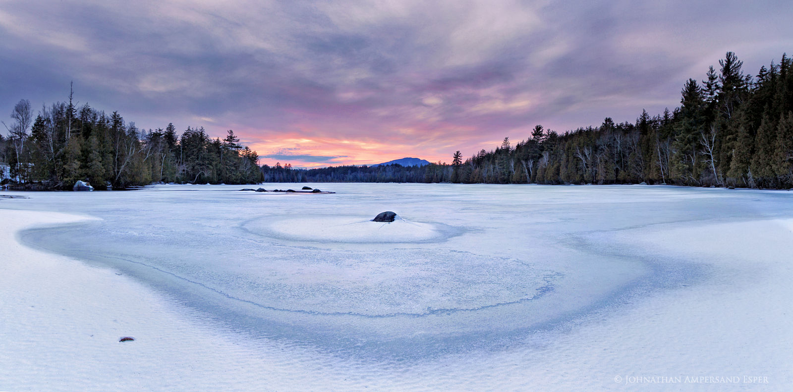 Lower Saranac Lake,spring ice,circle, spring,ice, photo