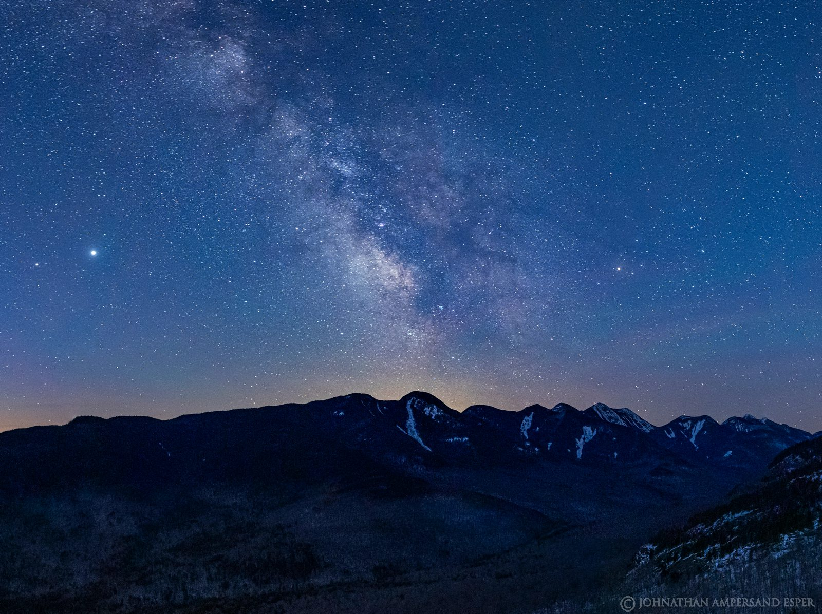 Milky Way,The Brothers,Big Slide Mt,night,stars,Great Range,April,2020,Gothics Mt,Lower Wolf Jaw,