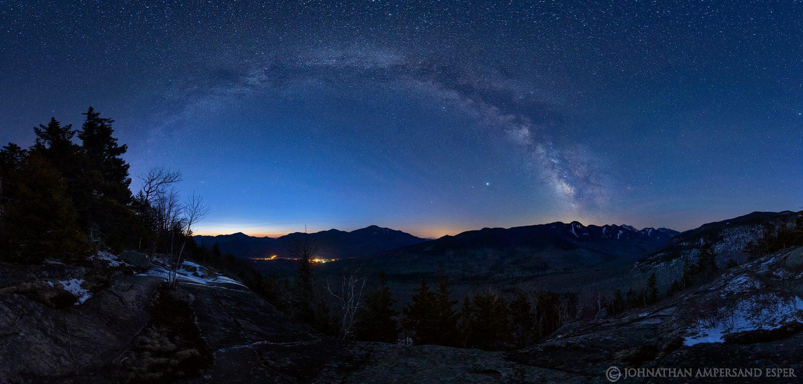 Milky Way,The Brothers,Big Slide Mt,night,stars,Great Range,April,2020,Keene Valley,Giant Mt,Hurricane Mt,panorama,