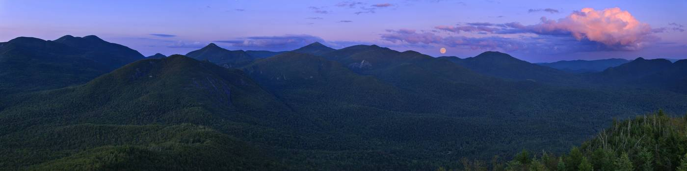 Mt. Adams,firetower,full moon,moon,twilight,High Peaks,Adirondack Mountains,Adirondacks,Adirondack Park,mountains,New Yo, photo