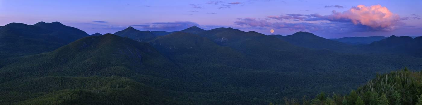 Mt. Adams,firetower,full moon,moon,twilight,High Peaks,Adirondack Mountains,Adirondacks,Adirondack Park,mountains,New Yo