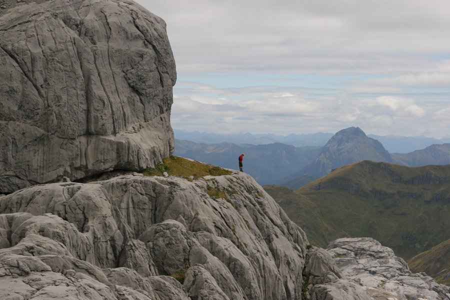 Mt. Owen, Kahurangi National Park, New Zealand, karst, formations, rocks, landscape, cliffs, vista, hiker,, photo