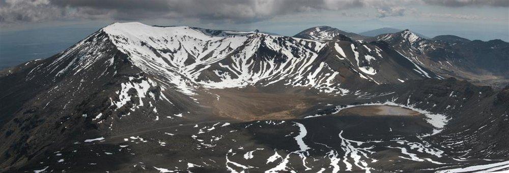 Mount Ngauruhoe, Tongariro National Park, Tongariro Crossing, tramp, hike, Mt. Tongariro, aerial, view, panorama, photo