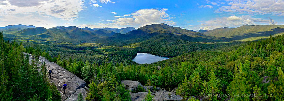 Adirondack Life,Adirondack Park,Adirondacks,Heart Lake,High Peaks,Mt Jo,mountain,treetop,summit,view,summer,hikers,hike,, photo