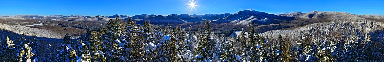 360 degree,treetop,Mt Jo,Heart Lake,winter,High Peaks,Adirondack Mountains,360 degree treetop,Johnathan Esper,Adirondacks,High Peaks,range,mountains,, photo