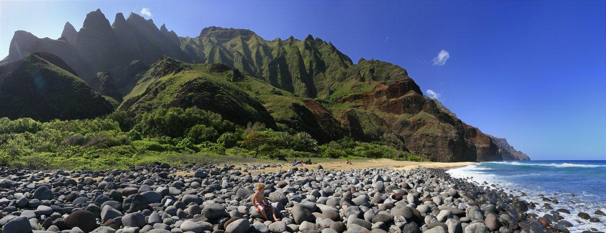 Na Pali, coast, beach, Kalalau Beach, photo